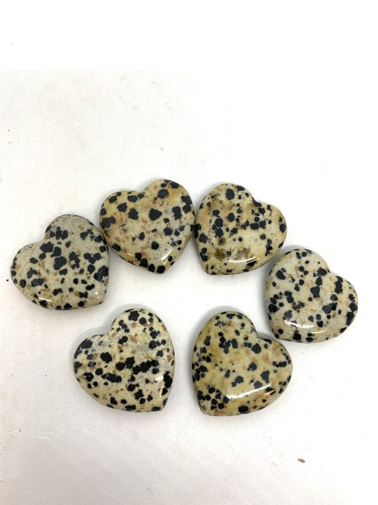 Dalmation Jasper Crystal Heart Small